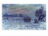 Hiver sur la Seine, Lavacourt Prints by Claude Monet