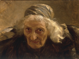 Head of an Old Woman, Study for a Larger Painting Giclee Print by Nikolai Alexeivich Kasatkin