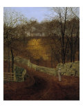 Autumn (Herbst), 1878 Prints by John Atkinson Grimshaw