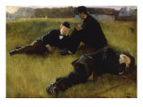 In the Park, 1885 Prints by Georg Nicolai Achen
