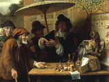 Peasants Listening to a Quack Doctor, 1668 Reproduction proc&#233;d&#233; gicl&#233;e par Lambert Doomer