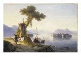 The Isola Bella on Lago Maggiore, 1843 Giclee Print by Ivan Konstantinovich Aivazovsky