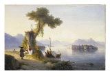 The Isola Bella on Lago Maggiore, 1843 Giclee Print by Ivan Konstantinovich Aivazovsky