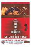 Dial M For Murder, Argentine Movie Poster, 1954 Print