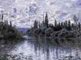 Bras de la Seine Pres de Vetheuil Posters by Claude Monet