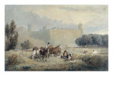 Haymaking near Warwick Castle - the Midday Rest, c.1810 Giclee Print by David Cox