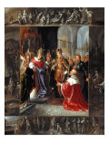 The Emperor Charles V Shown the Virgin's Robes Giclee Print by Frans Francken
