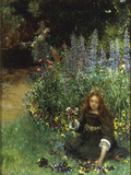 Gathering Pansies, 1902-03 Giclee Print by Laura Teresa Alma-Tadema