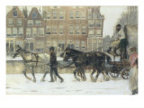 Along the Canal, Amsterdam Print by George Hendrik Breitner