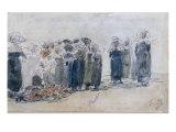 Scene de Marche Breton, c.1867-72 Prints by Eugene Boudin