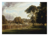 View of the Thames at Richmond Giclee Print by George Hilditch