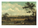 View of Regent's Park and the Colosseum from Primrose Hill Giclee Print by John Knox