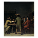 Interior with Cavaliers Smoking Giclee Print by Job Adriaensz Berckheyde