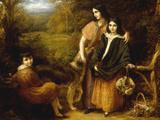 The Clutterbuck Children Impression giclée par John Linnell