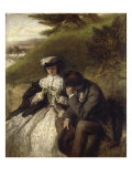 Lovers by a Waterfall Posters by William Powell Frith