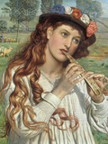 Amaryllis' or 'The Shepherdess', c.1884 Posters by William Holman Hunt