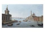 Venice, the Entrance to the Giudecca, with the Punta della Dogana and San Giorgio Maggiore Plakater af Antonio Joli