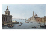 Venice, the Entrance to the Giudecca, with the Punta della Dogana and San Giorgio Maggiore Giclee Print by Antonio Joli