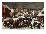A Winter Landscape with the Massacre of the Innocents Giclee Print by Marten Van Cleve