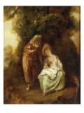 A Pair of Lovers Resting Beneath a Tree Giclee Print by Nicolas Lancret