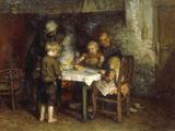 Supper in the Cottage Impression giclée par Bernardus Blommers