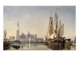 The Island of San Giorgio Maggiore, Venice, 1862 Giclee Print by Edward William Cooke