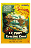 Bridge on the River Kwai, French Movie Poster, 1958 Foto