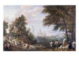 Coastal Landscape with Fishermen, 1625 Giclee Print by Adam Willaerts