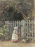 At the Garden Gate, 1927 Prints by Rose Maynard Barton