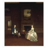 Mr and Mrs Dashwood of Stanford Hall, Nottinghamshire, 1750 Giclee Print by Arthur Devis