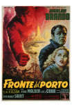 On the Waterfront, Italian Movie Poster, 1954 Print