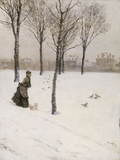 A Winter's Promenade, 1875 Art by Giuseppe De Nittis
