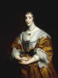 Portrait of Queen Henrietta Maria Kunstdrucke von Anthony Van Dyck
