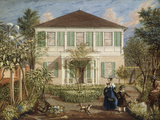 In the Garden of a House in the West Indies, 1844 Prints by Isaac Mendez Belisario