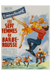 Seven Brides for Seven Brothers, French Movie Poster, 1954 Print