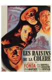 The Grapes of Wrath, French Movie Poster, 1940 Print