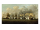 The First Battle of Finesterre, 3rd May 1747 Giclee Print by Richard Paton