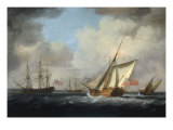 The Yacht 'Dorset' Giclee Print by Charles Brooking