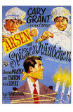 Arsenic and Old Lace, German Movie Poster, 1944 Print