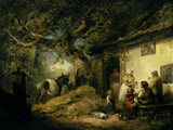 Outside the Dolphin Inn, 1792 Giclee Print by George Morland