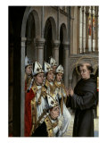 A Franciscan Saint and Six Bishops Posters by Rogier van der Weyden