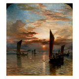 Sunset over the Forth, 1871 Giclee Print by Samuel Bough