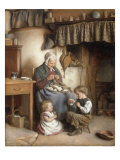Helping Grannie, 1878 Poster by Joseph Clark