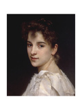 Portrait of Gabrielle Drienza, 1890 Giclee Print by William Adolphe Bouguereau
