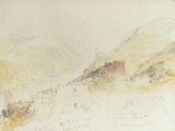 Rudesheim on the Rhine Print by William Turner