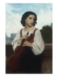 Seule au monde (Alone in the World), c.1867 Poster by William Adolphe Bouguereau