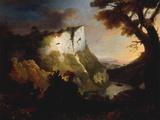 High Tor, Matlock, Derbyshire, 1756 ジクレープリント : アレクサンダー・カズンズ