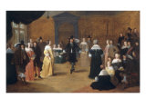 Interior with a Music Party and an Elegant Couple Dancing Giclee Print by Hieronymus Janssens
