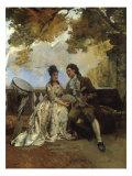 Jean Jacques Rousseau by Lake Leman Prints by Edouard Castres