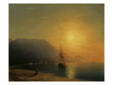 Sunset off Ayu Dag in the Crimea, 1861 Posters by Ivan Konstantinovich Aivazovsky